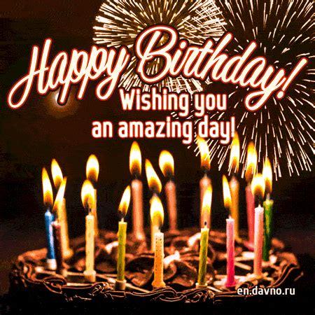 happy birthday cake  candles  fireworks  animated gif   funimadacom