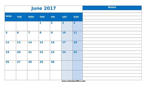 blank calendar template download june 2017 calendar download
