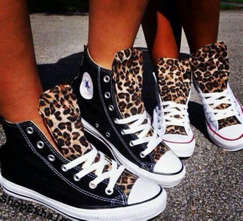 Leo Shoes Black White converse leopardenmuster conversechucksdamensale de