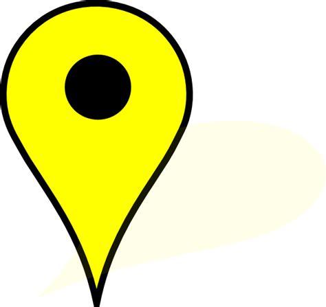 google maps clip art pushpin googl yelow clip art at clker com vector clip