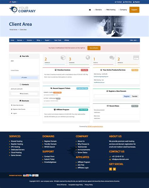 Html5 Css3 Responsive Template Universe Is A Very Powerful Html5 Web Hosting Reseller Template Whmcs Client Area Templates Free