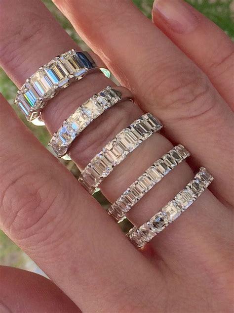 Wedding Bands Emerald by Emerald And Asscher Cut Wedding Bands Joshua J Calvin