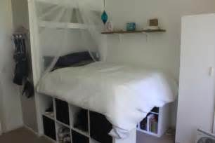 Bed Frame Ikea Kallax I Really Wanted To Up And Be Able To Look Out My