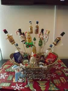 Christmas liquor gift basket diy amp crafts pinterest
