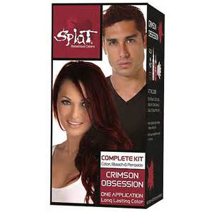 splat hair dye colors splat complete hair color kit crimson obsession walmart