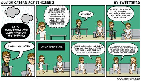 themes in julius caesar act 2 scene 1 julius caesar comic strips