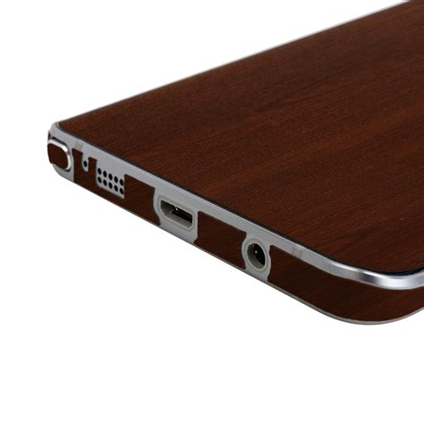 Custom Skin For Samsung Note 5 Wood Glossy Texture skinomi techskin samsung galaxy note 5 wood skin protector