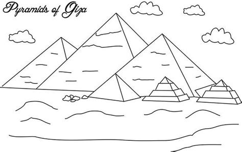 great pyramid of giza coloring pages