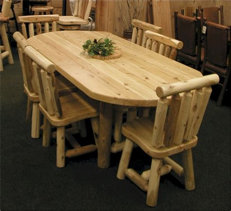 Cedar Dining Table Oval Cedar Log Dining Table Set Solid Cedar Oval Log Dining Table Minnesota The Log