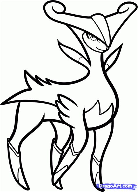 pokemon coloring pages deer step 6 how to draw virizion pokemon