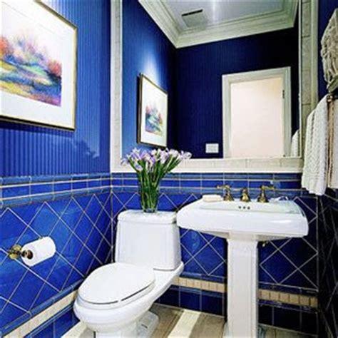 cobalt blue bathroom tile decor design colorful bathroom
