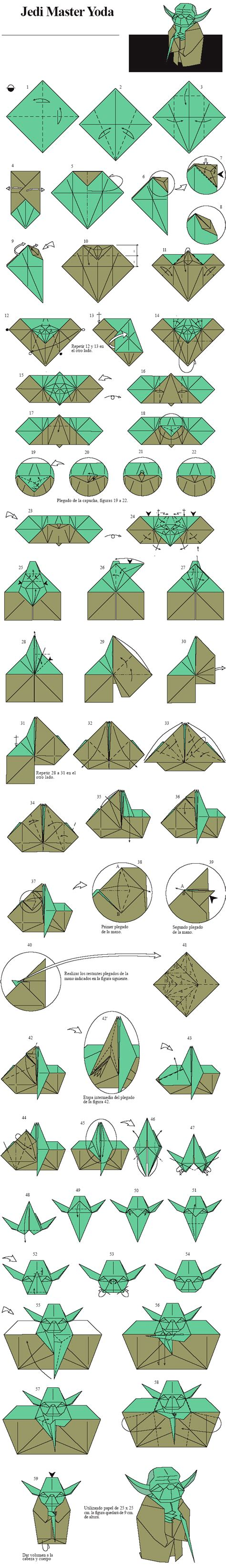 How To Make Origami Yoda - origami jedi master yoda designed by fumiaki kawahata