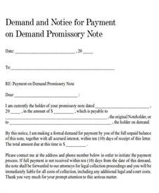 Bank Demand Letter For Payment Demand Letter Exles