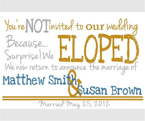 Wedding Announcement To Those Not Invited by Reserved