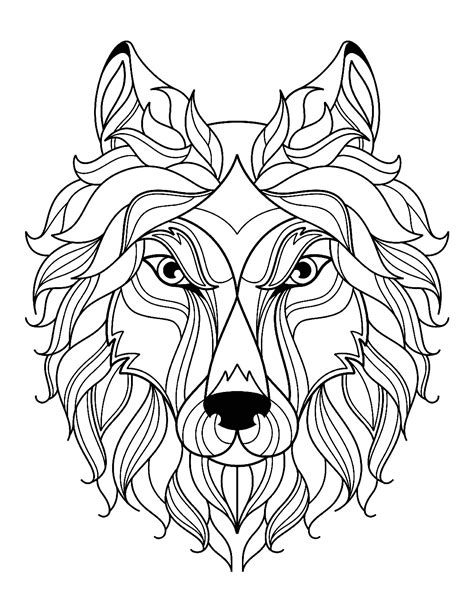wolf coloring pages big wolf simple wolves coloring pages