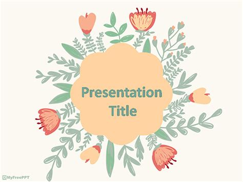 Free Herbal Powerpoint Templates Themes Ppt Powerpoint Flower Template