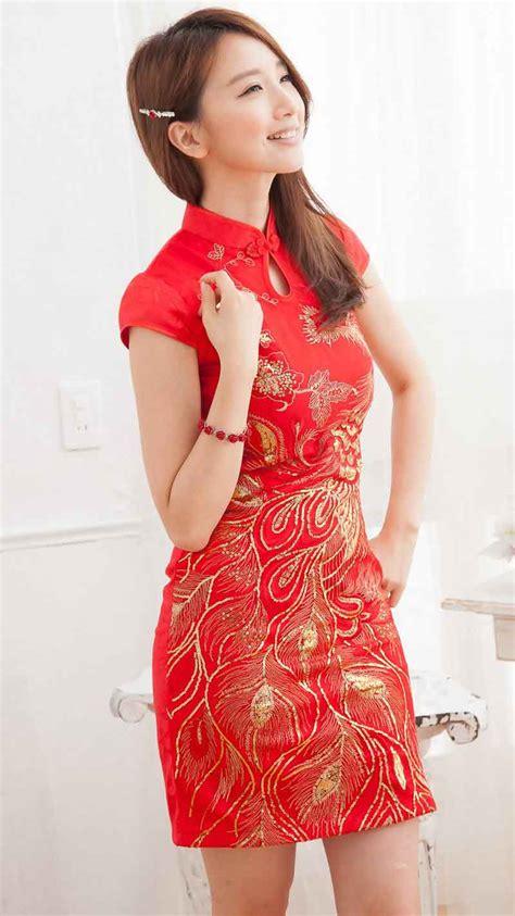 Dress Fiona Gaun Merah Imlek dress cheongsam merah modern terbaru model terbaru