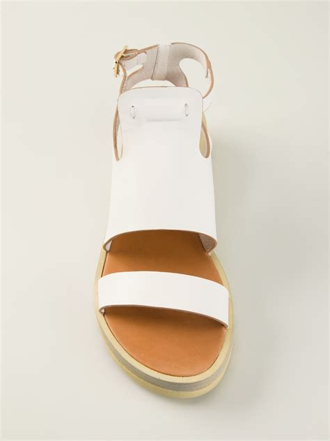 Lr 04 Sandal Flat see by chlo 233 chunky sole flat sandals in white lyst