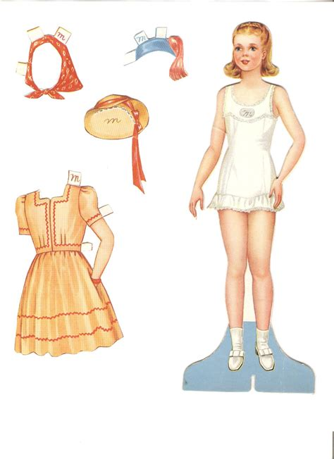 Paper Doll - miss paper dolls november 2012