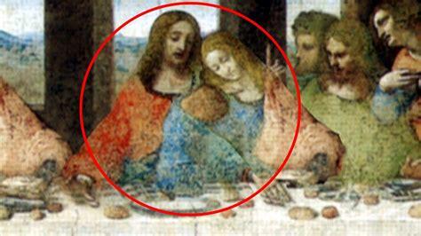 el bebe de maria magdalena  jesus en la ultima cena de