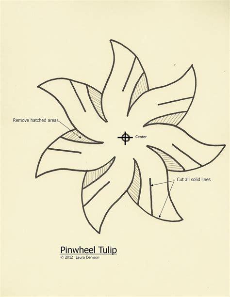 paper flower pinwheel pattern the paper trail april 2012