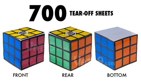 Origami Rubiks Cube - rubik s cube notepad officially licensed notepad includes