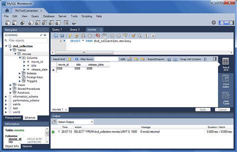 format of date in mysql workbench chapter 7 database development