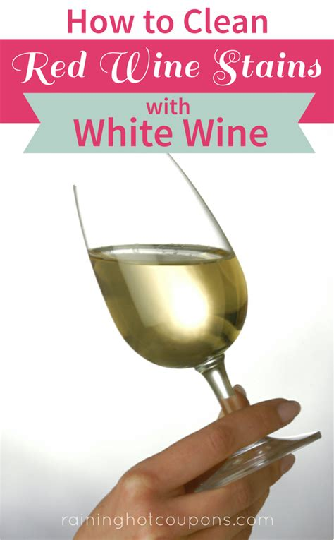 how to clean wine stains with white wine
