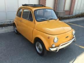 yellow fiat cinquecento 1970 yellow fiat 500l cinquecento abarth microcar for