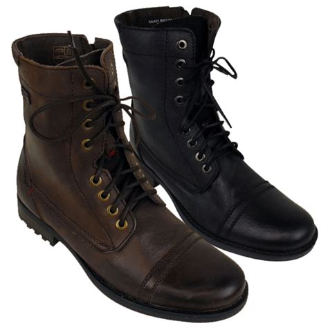 mens leather combat boots mens leather base army ankle boot leather