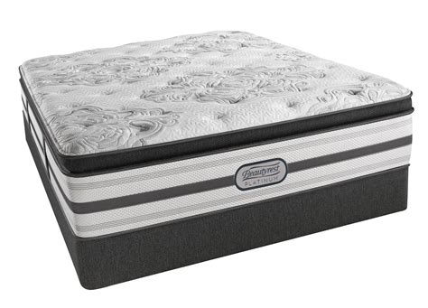 California King Mattress Pillow Top by Beautyrest Platinum Hailey Plush Pillow Top California