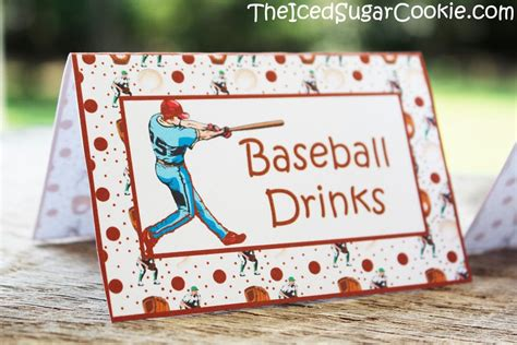 diy baseball cards template baseball birthday food label tent cards diy sports