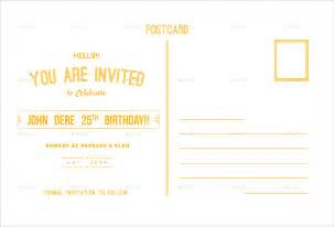 postcard invitation templates free birthday postcard template 17 free psd vector eps ai