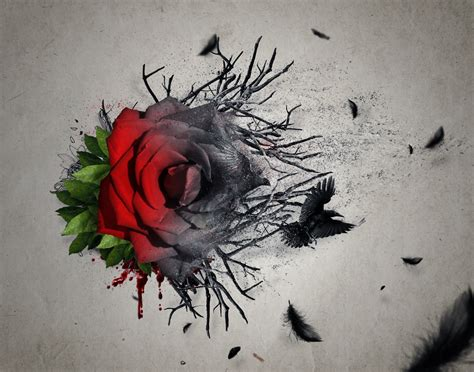 how to tattoo a rose create an emotional abstract photo manipulation of a