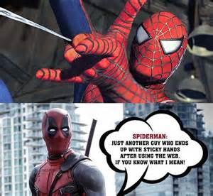 Deadpool Meme - funny deadpool described spider man in the best way