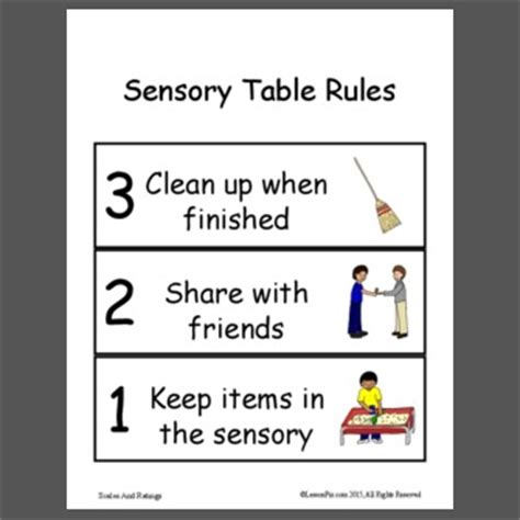 materials for sensory table lessonpix