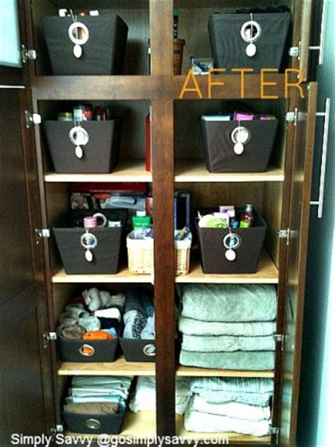 Savvy Closet by Transforming A Closet With Canvas Bins