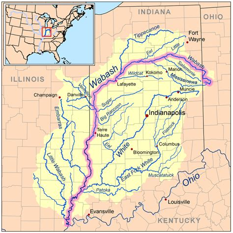 united states map showing ohio river wabashriver map river wabash river the wabash is the