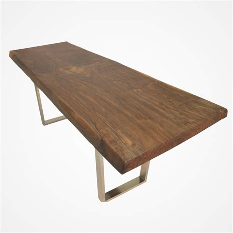 Walnut Live Edge Dining Table Live Edge Walnut Dining Table Metal Base Rotsen Furniture