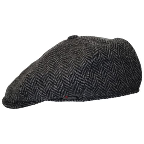 wigens caps herringbone wool newsboy cap newsboy caps