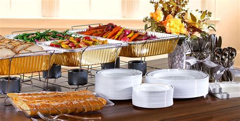 how to set a buffet table with chafing dishes thanksgiving chafing dishes aluminum pans city