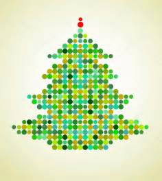 xmas background with pixel christmas tree stock vector