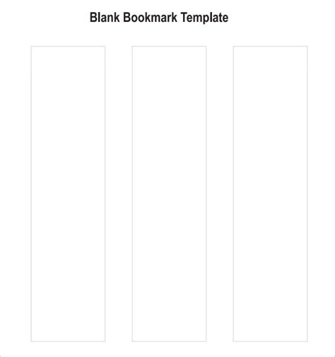 7 Sle Blank Bookmarks Sle Templates Bookmark Template Pdf