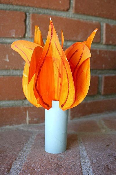 How To Make A Paper Torch - crafts for make a statue of liberty crown and torch