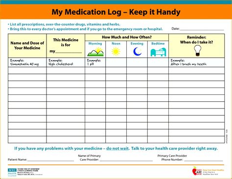 Medication Schedule Spreadsheet Thevillas Co Medication Schedule Template