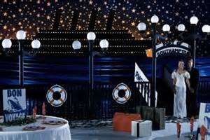 titanic prom theme decorations take to with a fantastic voyage themed prom