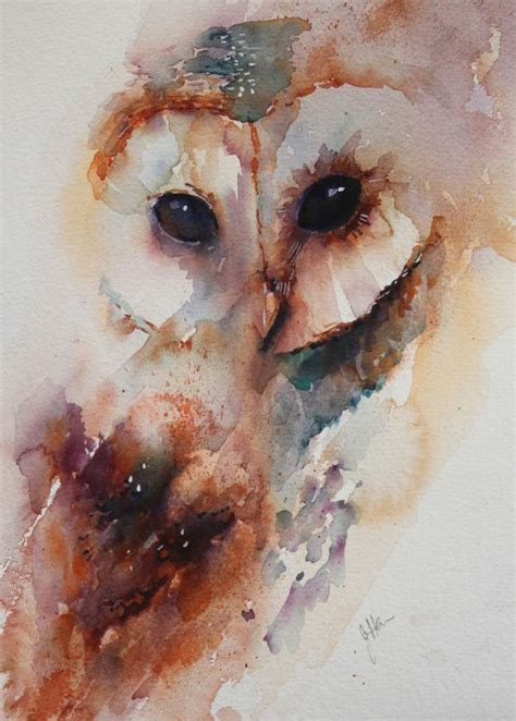 watercolor tattoo owl the magic of watercolour painting gallery jean
