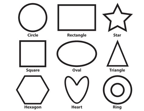 basic shapes coloring sheet pixie budget