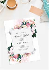 best 25 floral wedding invitations ideas on wedding invitations floral invitation