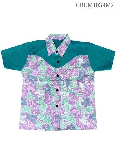 Kemeja Anak Batik Branded kemeja batik anak motif bunga talas kemeja murah batikunik